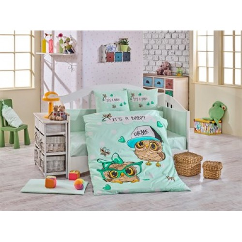Hobby Cool Baby Yeşil Bebek Nevresim Takımı