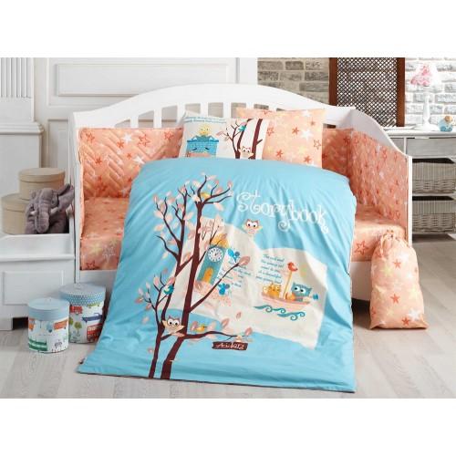 Hobby Dream Clock Mavi Bebek Nevresim Takımı