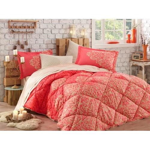 Hobby Serenity Kırmızı Çift Kişilik Poplin Uyku Seti